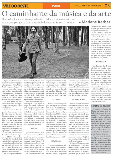 reportagem Voz do Oeste 2011